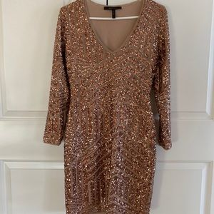 BCBGMAXAZRIA Rose Gold dress